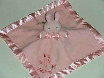 Gerber Pink Rabbit FLUFFY BUNNY Security Blanket
