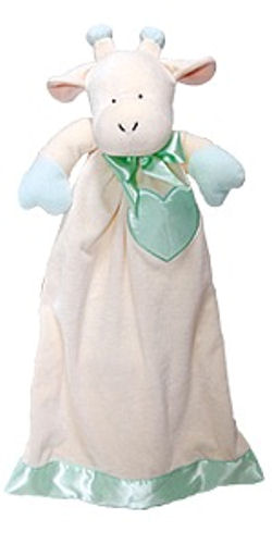 Applause Giraffe Gown Shaped Security Blanket with Satin Heart