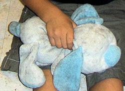 Goffa White and Blue Floppy My First Friend Dog