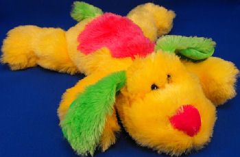 GOFFA Neon Yellow, Green, Pink Lying Down Dog