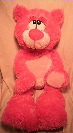 Large Goffa Hot Pink Bear with Big Eyes