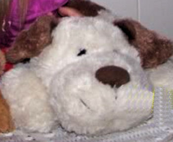 goffa white dog, DISCONTINUED – 2008? GOFFA WHITE DOG with BROWN EARS