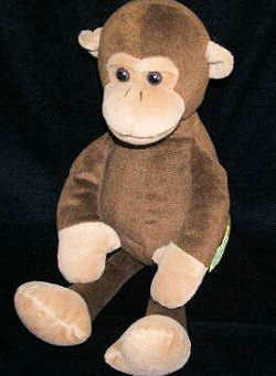 CuddleZone brown and white Monkey