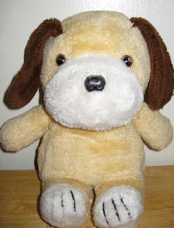 Vintage Golden Brown Dog with Dark Brown Ears and White Muzzle