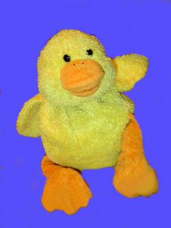 Friendzies plush yellow duck