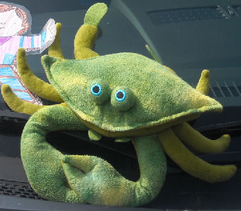 2009? Coinstar vending machine Green & Yellow Plush Crab