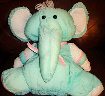 80's Puffalump Blue & Pink Elephant with Sailor Collar