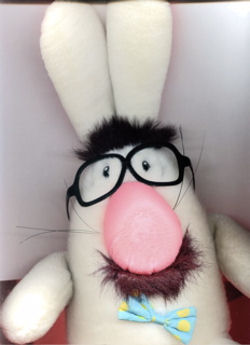90's? DAKIN Rabbit with Groucho Marx Face