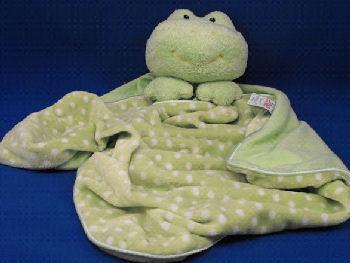Baby GUND No. 58232 Green Dottie Dots Frog Blankie