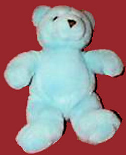 1986 GUND Baby Time Bear in Pink, Yellow, or Green