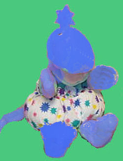 , Searching – GUND 1990 Full Body Puppet Blue Zwibble Dibble with Star Print Diaper