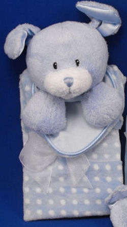 Baby GUND Blue Dottie Dots Dog Blankie