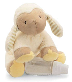 GUND Little Tones Cream Lamb with Striped Ears