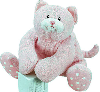 Baby GUND No. 58239 13 inch Pink DOTTIE DOTS Cat