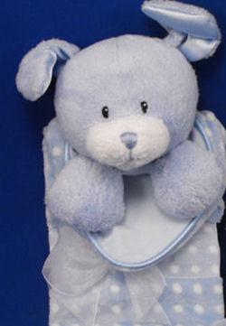Baby GUND Blue Dottie Dots Dog Blankie