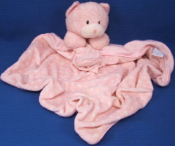 Baby GUND No. 58233 DOTTIE DOTS PINK CAT BLANKIE