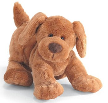 2006 Light Brown GUND Huffy Dog in Play Pose