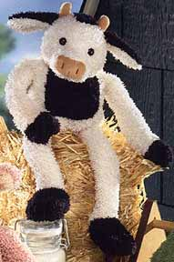 , DISCONTINUED – 2003 GUND MOOSLE Cream & Black SKINNY LEGGED COW
