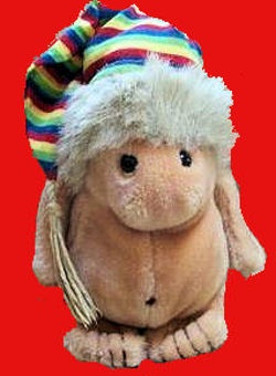 80′s GUND Small BEIGE NOAH GNOME with STRIPED HAT