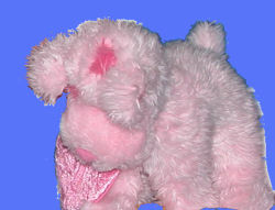 GUND Head and Tales pink Puppy Dog with Heart