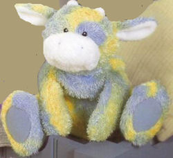 GUND Blue and Yellow Sprinkles Cow lost in Orange Valley, OH