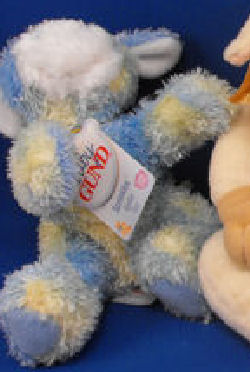 Baby GUND No. 58176 Blue, Yellow, White Sprinkles Cow Rattle