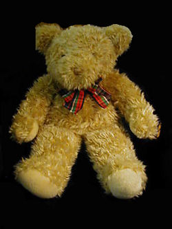 ", Searching – GUND 15"" Honey Colored BEAR / Large RED, GREEN, BLACK, WHITE BOW"