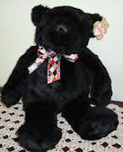 GUND ALL Black Bear named Velvet