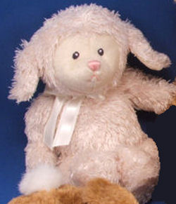 11 inch GUND White or Cream Fluffles Lamb