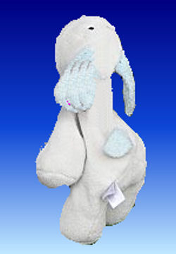 , Searching – GUND? Goffa? White PUPPY with BLUE EARS