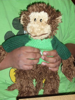 Shaggy Brown Monkey from Hallmark