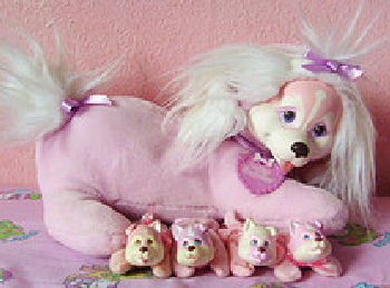 90's Hasbro Pink Puppy Surprise with All Babies