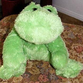 Walmart Huggable Lovable Furry Green Frog