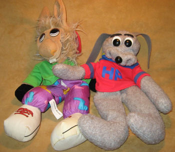 , Searching – 2003 Aurora People Pals HUSH PUPPY & CHARLIE HORSE FINGER PUPPETS
