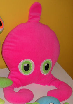 , Searching – IKEA Hot PINK SQUID Monster with POINTED HEAD