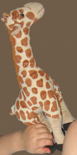 Jaag Long Neck Floppy Standing Brown & Cream Giraffe