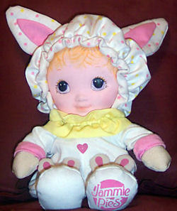 80′s Playskool JAMMIE PIES PINK RABBIT DOLL