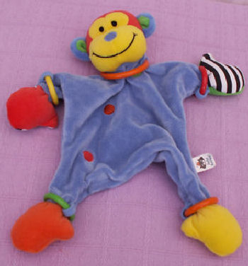 2007 Jelly Cat Hoopy Loopy Soothie Monkey Blankie