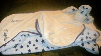 Jelly Kitten Starry Nights Cow Blankie