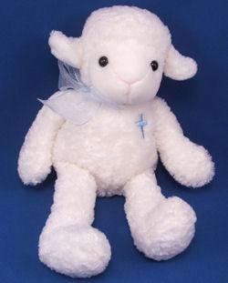 Jerry Pets White Lamb Pink Cross