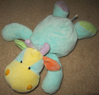 Kellytoy Multicolored Lying Down Cow