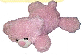 14 inch Kellytoy Baby Collection No. 9049 Pink Curly Floppy Bear