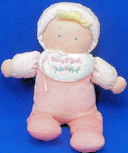 Kids Gifts BABY B'GOSH Blond Doll Bib Pink Stripe Cap
