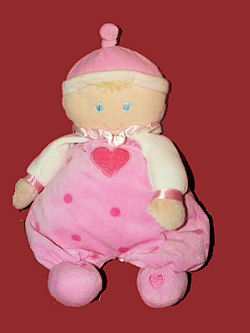 Little Kids Preferred Blond Doll with Pink Dots & Hearts