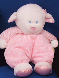 Kids Preferred White Lamb with Pink Dots & Stripes