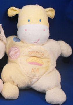 Kids Preferred Yellow Cow with Sweetie Pie & Pie Slice on Tummy