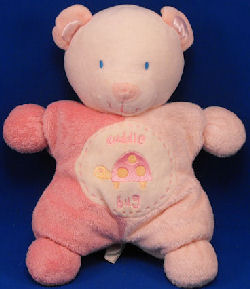 2005 Kids Preferred Asthma Friendly White & Pink Cuddle Bug Bear