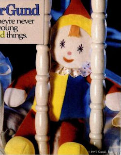 80's KinderGUND Tickles Blue, Red, & Yellow Clown