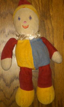 KinderGUND clown, Searching – KinderGund RED BLUE YELLOW CLOWN
