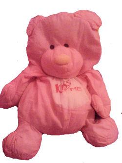 80's Puffalump Style Pink Bear